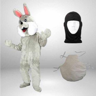 Hase-Lauffiguren-Kostueme-Maskottchen-grau