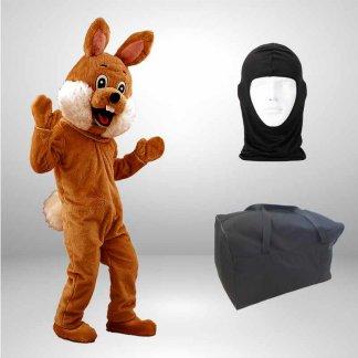 Hase-Lauffiguren-Kostuem-Maskottchen-braun