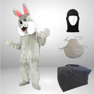 Hase-Lauffigur-Kostuem-Maskottchen-grau