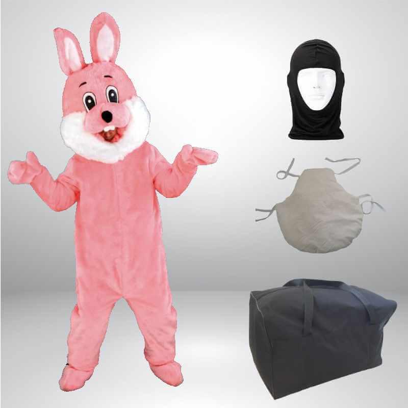 Hase-Lauffigur-Kostuem-Maskottchen-rosa
