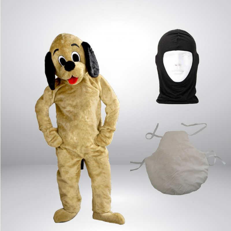 Hund-Lauffiguren-Kostueme-Maskottchen-Braun